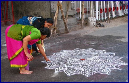 Kolam Floor Decoration
