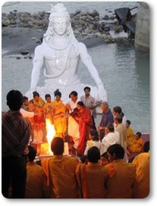 Hinduism - Rituals at Rishikesh