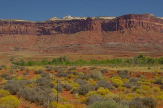 Huge mesa with cliffs.