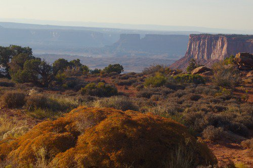 It will be dark soon. Farewell to the beautiful country of Canyonlands.