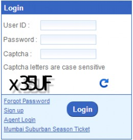 NGET new IRCTC Login page
