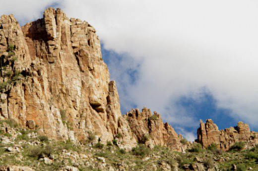 Beautiful rocks and clouds