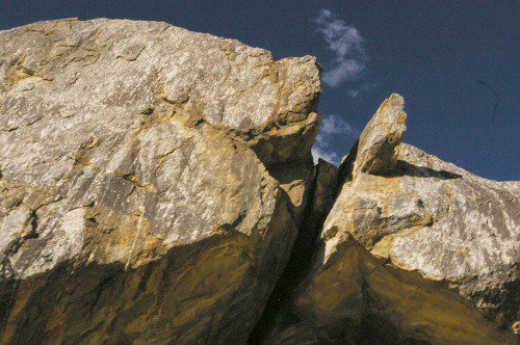 They say mountain lions like to sit on top of these rocks and watch. They make a big deal about the mountain lions.