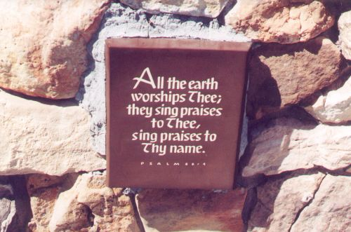 This plaque is near the entrance of a round building built centuries ago, which has been renovated into a visitor's center with outlooks. I love this plaque!