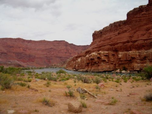 This is the beach near the Colorado River.