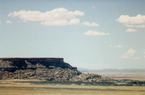 A mesa on the way to the Petrified Forest.