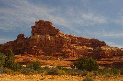 The rocks getting redder.