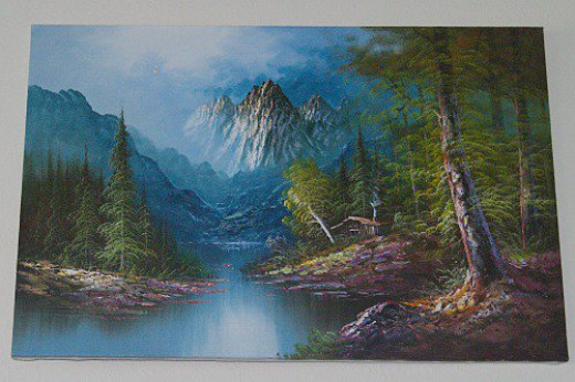 A favorite painting hanging over the TV. Just a cheap mass-produced hand painted kind of thing, but I wish I could paint like that.