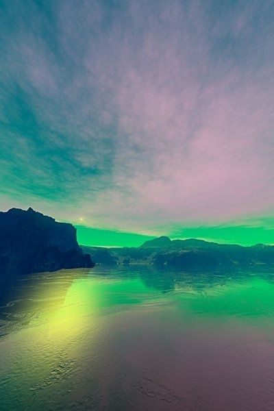 Pastel Fantasy - because I like pretty colors. Too bad earth scenes never look like this.