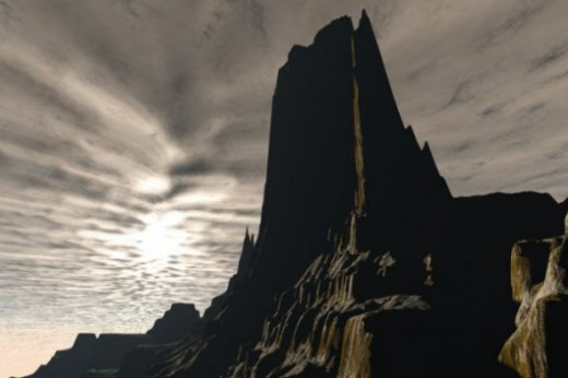 Noble Peak - A recent image. I don't remember where I got the terrain.