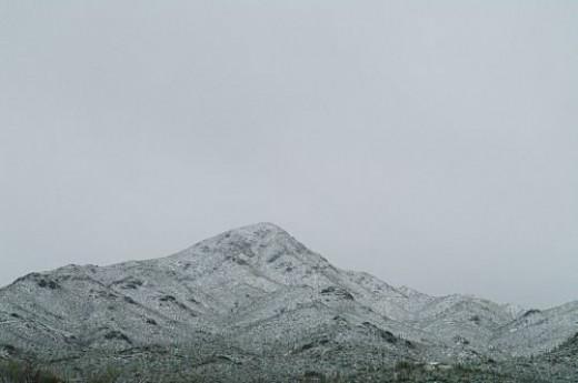 Wasson Peak flying solo.