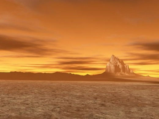 Distant Vistas - Another image from the Shiprock terrain.