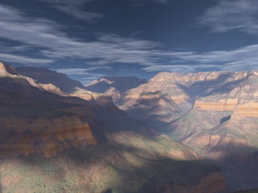 Bright Angel Vista - My most successful attempt, to date, to make a realistic Grand Canyon image.