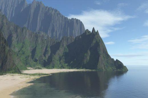 Terrain from Kauai. Realism.