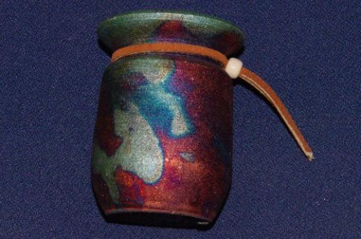 Raku pot made in Arizona.