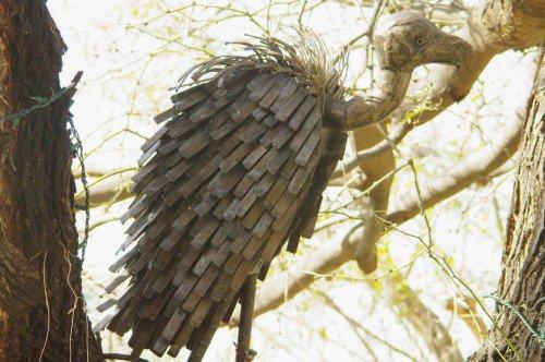 Metal vulture.