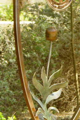 Remember the floats in older toilet tanks? This one became the flowerhead of an agave.