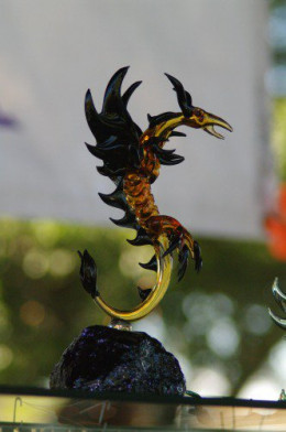The visiting artist was making glass dragons...