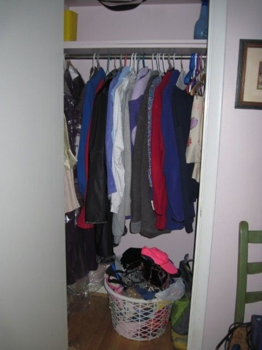 My newly organized closet (Photo property of author)