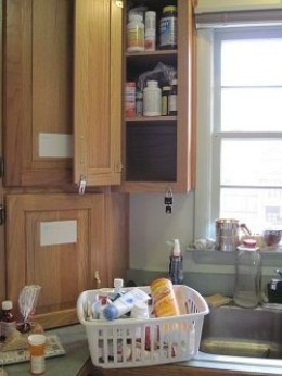 Messy medicine cabinet | Photo property of author All Rights Reserved