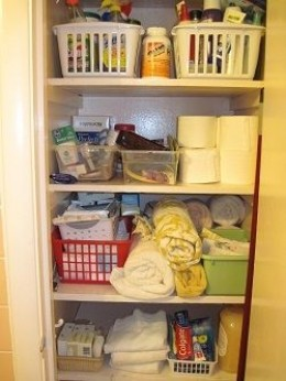 Clean & tidy linen closet | Photo property of author All Rights Reserved