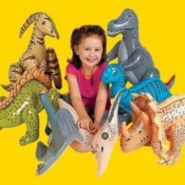 6 Inflatable Toy Dinosaurs