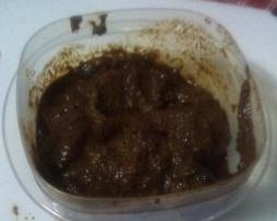 The finished masala paste.