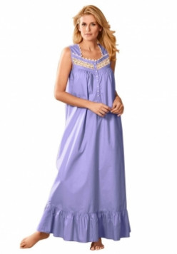 Sleeveless Cotton Nightgown