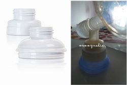 the conversion kit which allows VIA system to be used with other breastpumps (image courtesy of www.usa.phillips.com and mommynadia.blogspot.com)