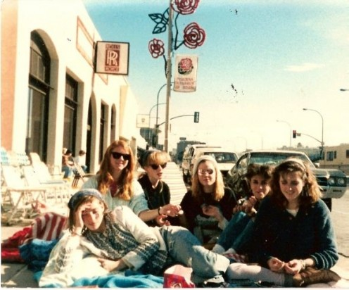 Me with friends at the Rose Parade