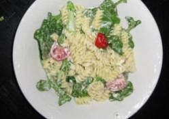 Lemon Rotini with Baby Arugula and Asiago