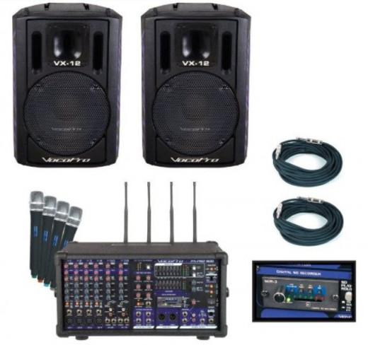 VOCOPRO PA-PRO TRIO Portable Karaoke System