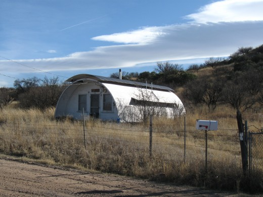 Quonset hut less than a mile north of Arizona-Mexico border in Coronado National Forest