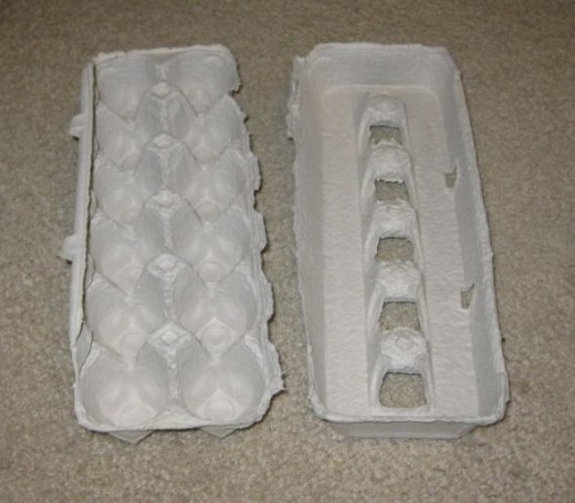 Separate the lid from the carton. Remove the edge or lip on the carton side too.