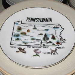 State Plate from Pennyslvania. Photo Credit:  Peggy Hazelwood.