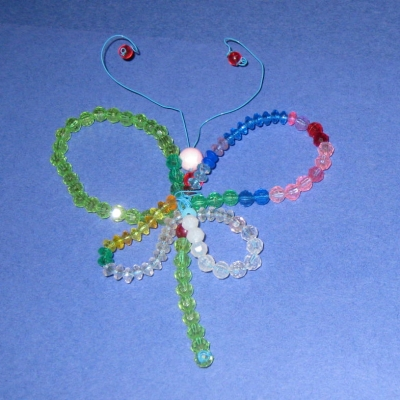 Dazzling Dragonfly -- Wire, Beads, and Little Hands
