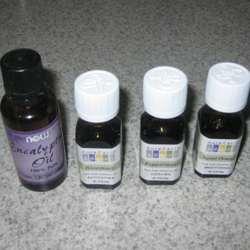 Used a mixture of essential oils to make knockoff poo spray. Add your signature mixture of oil and water to a bottle.