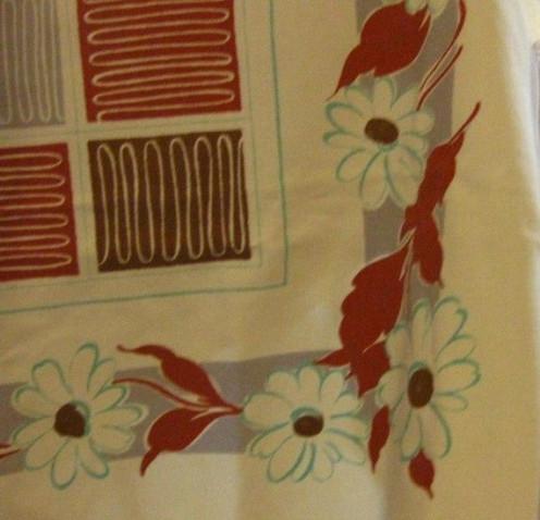 Vintage printed tablecloth.