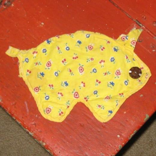 Vintage Pig Potholder.