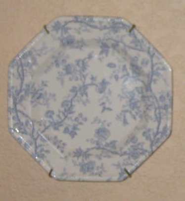 An unusual octagon shaped dessert plate.