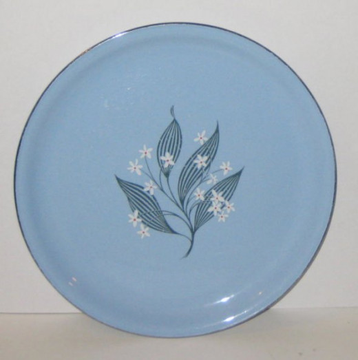 This blue plate has a distinct name. This plate corresponds with quiz question No. 1 below.