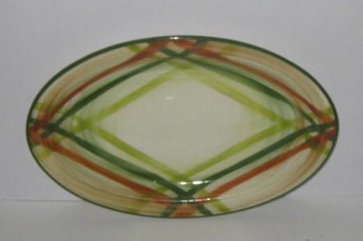 This vintage China platter is lovely. But then, I love plaid!