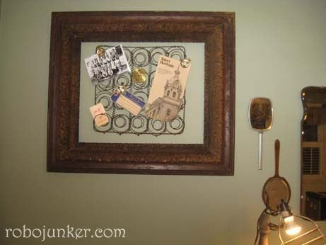 RoboJunker framed these chair springs. Love it! Click the photo to visit RoboJunker's Web site.