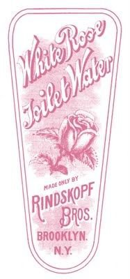 Vintage jar label from toilet water bottle, in pink. Source:  graphicsfairy.blogspot.com