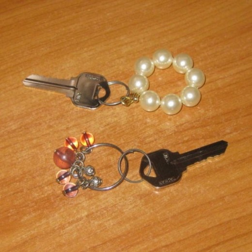Round earrings to round keychains.