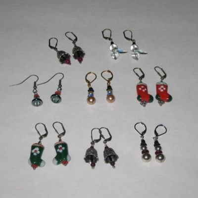 ~*~ Holiday Earrings ~*~ Bells ~*~ Stockings ~*~ Snowmen ~*~