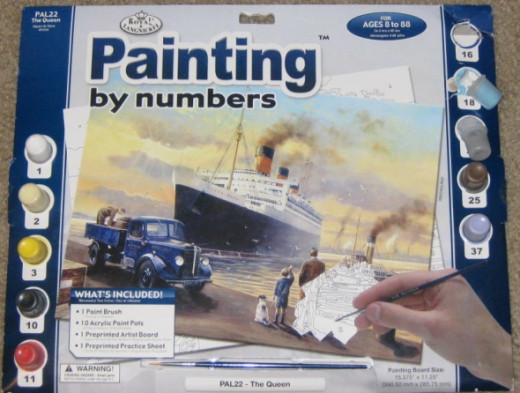 I went to Michael's Art and Craft Store the other day and saw this paint by number kit in the clearance bin. $1.49. Score!