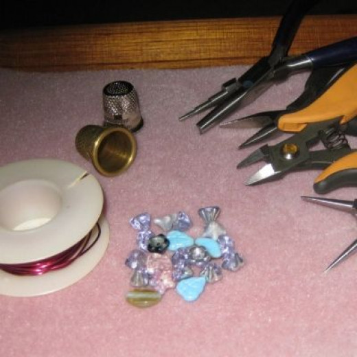 Supplies Needed for Thimble Flowerpots