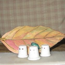 Make thimble ghosts. Click the photo to see how easy they are to make.