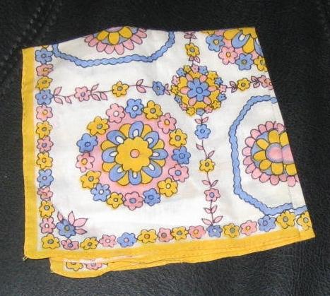 Mod handkerchief design from the 1960s.